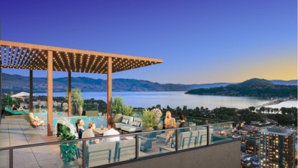 Rooftop pool, views of Okanagan Lake on offer at Kelowna's Bertram at Bernard Block